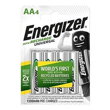 Energizer - Pilas Recargables Accu Recharge Universal