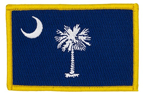 (South Carolina State Flag Patch (Sew-on) Full Color 3 1/2