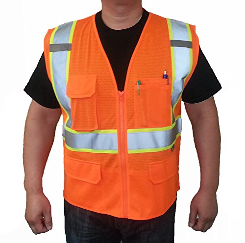 3C Products SV2600,ANSI/ISEA Class 2,High Visibility Mesh Vest,2
