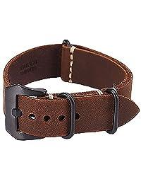 rare 2016 news Garmin Fenix 3 brown Watch Band crazy horse leather Strap ...