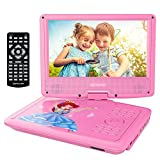 DBPOWER Portable DVD Player with 9.5'' Swivel Screen, Supports SD Card/USB/CD/DVD with AV IN/OUT and Earphone Port, 5-hour Built-in Rechargeable Battery, Suitable for Car Headrest Mount 【Upgraded 】