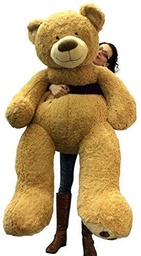 5 Foot Very Big Smiling Teddy Bear Soft with Bigfoot Paws, Giant Stuffed Animal Bear