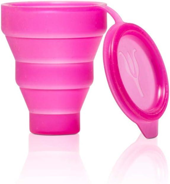Lybera Esterilizador para copa menstrual, esterilizador plegable para microondas de silicona, fabricado en Italia, recipiente para copas menstruales, ...