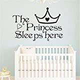 #3: TraveT Princess Sleeps Here Wall Home Decor Bedroom Wall Stickers For Girls