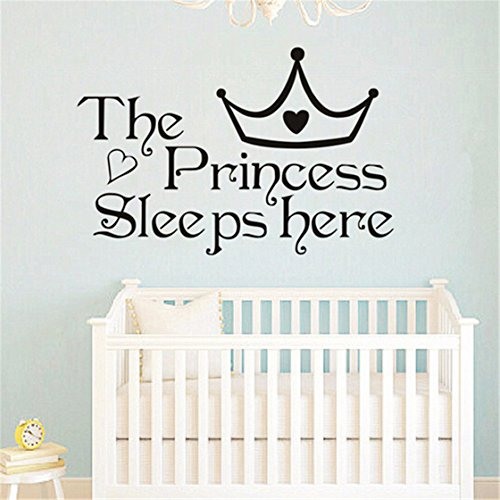 TraveT Princess Sleeps Bedroom Stickers