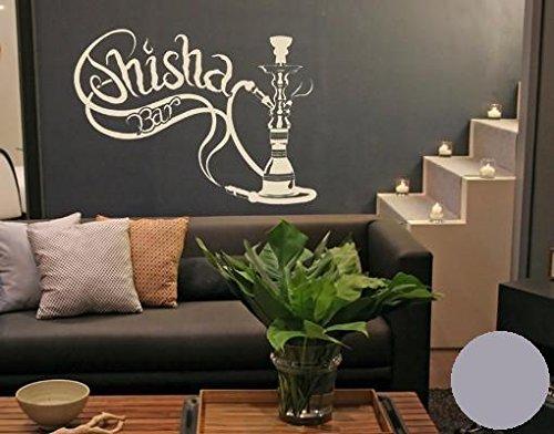 Klebefieber Wandtattoo Shisha-Bar B x x x H  100cm x 75cm Farbe  Schwarz B0716KRY7R Wandtattoos & Wandbilder ac1614