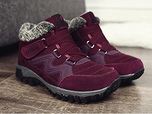 Scivolono Cashmere Scarpe Mens Non Cotone Bordeaux E Bene All'interno Womens Invernali With Escursionistiche Calde Esterne C'è SwZAq8wFx