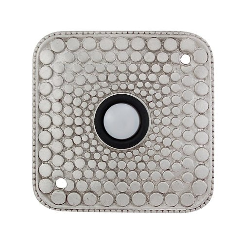 Vicenza Designs D4012 Tiziano Square Style Doorbell, Satin Nickel