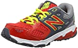 New Balance Unisex Kids' KR680DRY-680 Training Running Shoes, Multicolor (Grey/Red 060), 5 UK 38 EU