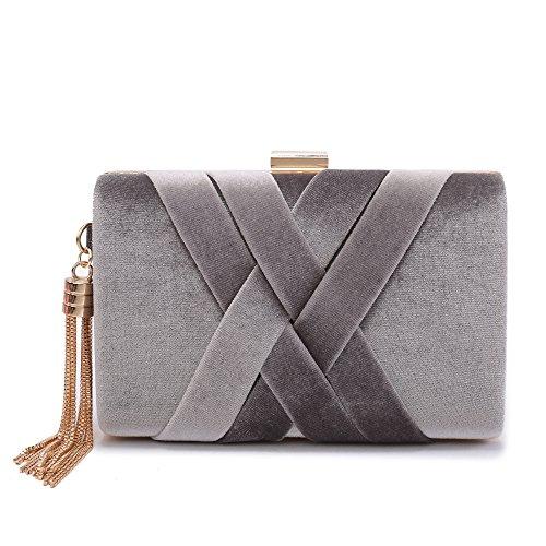 Gray Evening Bag - 3