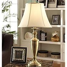 American Retro Copper Continental Bedroom Bedside Lamp Creative Living Room Decorative Lamp