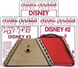 Lap Harp, Padded Case and 3 Disney Song Packs (36 songs total)