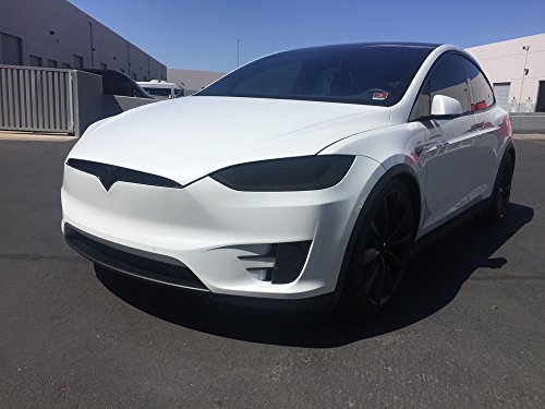 - BlingLights Tesla Model X Tinted Head Fog Lamp Overlays Protective Film Covers Kit