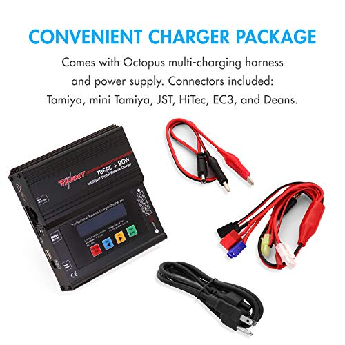 Tenergy TB6AC+80W Balance Charger Discharger, 1S-6S IntelligentDigital Battery Pack Charger for NiMH/NiCd/Li-Po/Li-Fe...