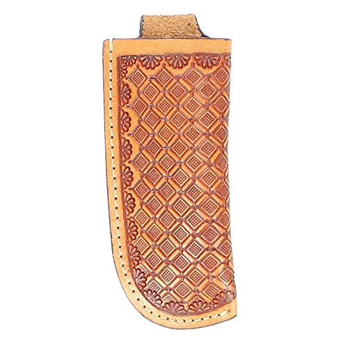(Nocona Men's Basketweave Leather Knife Sheath - Small)