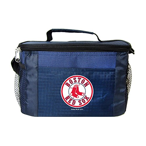 (Kolder MLB 6 Can Cooler Bags - Boston Red Sox Blue - Insulated Lunch Box or Tote)
