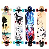 WeSkate Freeride Freestyle Drop Through Longboard Skateboard Complete 41 Inch for kids boys girls beginners