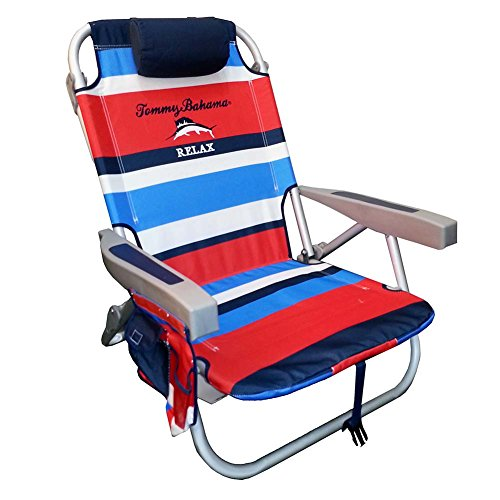 Tommy Bahama 2015 Backpack Cooler Chair with Storage Pouch and Towel Bar- redblue