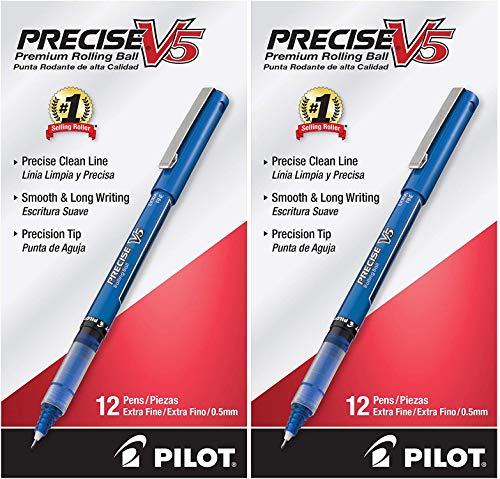 PILOT Precise Grip Liquid Ink Rolling Ball Stick Pens 2 Pack