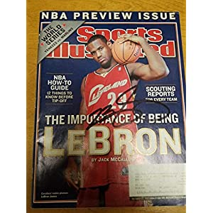 Lebron James Autographed Signed Rookie Si Magazine Letter Of Authenticity From Memorabilia JSA