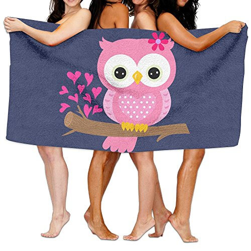JTCY Baby Girl Owl On A Branch Bath Towels Beach Towels Swim
