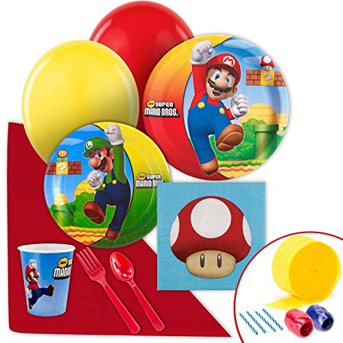 Princess Peach Mario Kart Costumes (Super Mario Bros Party Supplies - Value Party Pack)
