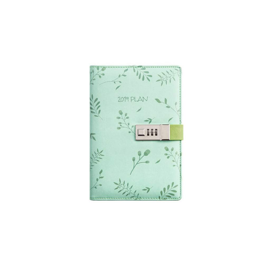 YIXINGSHANGMAO Notebook, Password Notepad - Diary Notes Diary and Plan / 128sheets Writing Instrument (Color : Green) by YIXINGSHANGMAO
