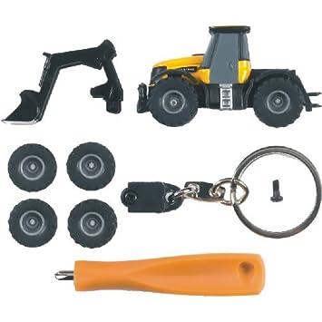 Bruder 00421 - Mini tractor JCB Fastrac 3220 con remolque, llavero y ruedas de recambio: Amazon.es: Juguetes y juegos
