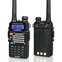 Baofeng Radio US BF-F9 V2+ 8-Watt Hi-Power (USA Warranty) Dual-Band 136-174/400-520 MHz Hand Held Ham Radio Two-Way Transceiver (Black) (Certified Refurbished)