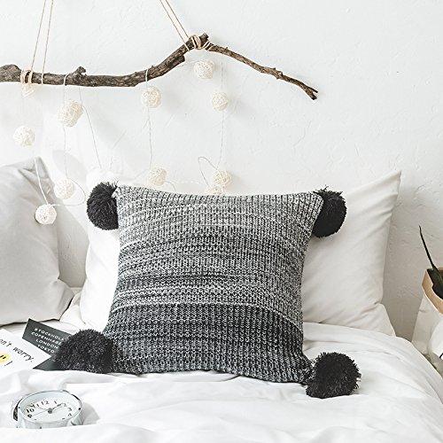 Punto decorativo cuadrado cálido Warrow Throw Pillow Cover ...