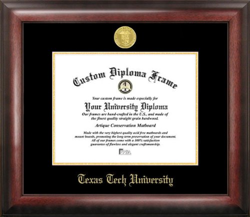 Tech University Diploma Frame - Texas Tech University Gold Embossed Diploma Frame