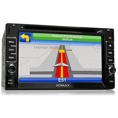 XOMAX XM-2DTSBN6214 Autoradio / Moniceiver / Naviceiver mit GPS Navigation + NAVI Software inkl. Europa Karten + Bluetooth Freisprecheinrichtung + 6,2