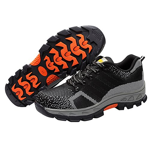 Shoes Comp Shoes Optimal Shoes Safety Men's Steel Toe Black Work Iwf4SRf