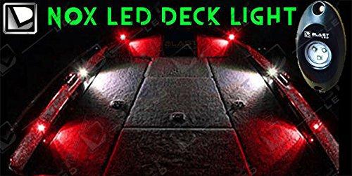 BLAST LED - White / RED Boat LED Deck Light Kit - 4pc RED Boat LED & BLAST LED - White / RED Boat LED Deck Light Kit - 4pc RED Boat LED ...