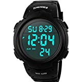 Skmei Digital S-shock Fashion Watches Outdoor Sport Military Men's Waterproof Watch Large Dial Blue Light