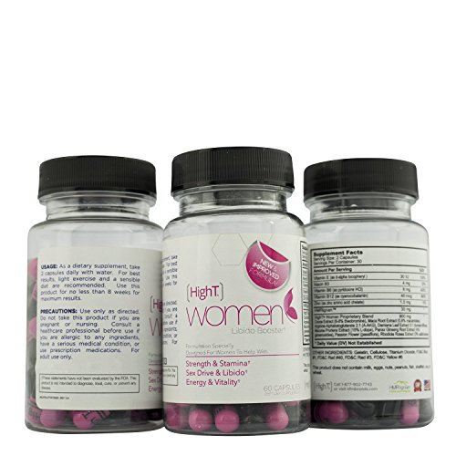 High T Women Women's Natural Energy, Endurance and Libido boosting formula,60 capsules