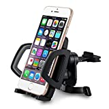 Mpow Car Holder/Phone Holder, 360 Degrees Rotating Grip, Easy Installation, Extension 2 to 3.9 Inch for Iphone 6/6S/6, Galaxy S6/S6/S5/S4 and Other Smartphones - Black