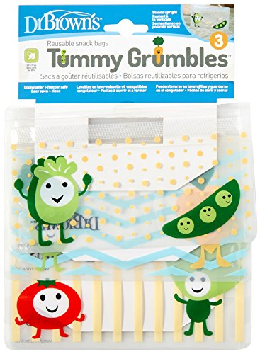 Dr. Brown's Tummy Grumbles 6 Piece Reusable Snack Bags by Dr. Brown's