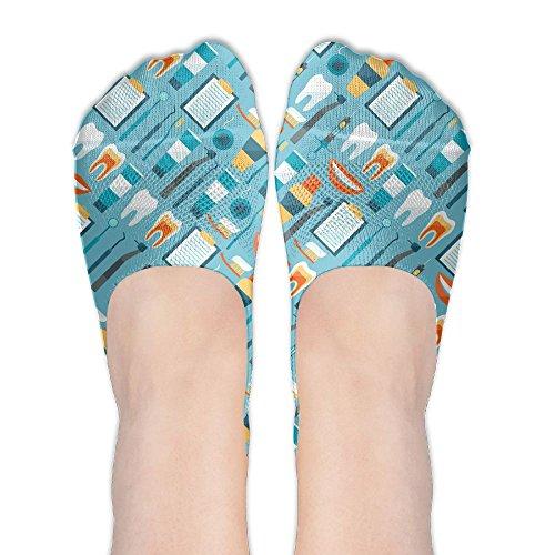Women Medical Supplies Dentists Low Cut Thin No Show Non Slip Boat Sock