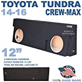 14-16 TOYOTA TUNDRA CREWMAX 12'' DUAL SUBWOOFER SUB ENCLOSURE BOX GROUND-SHAKER