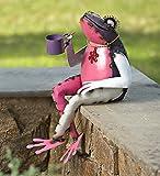 Recycled Metal Tea Frog Garden Art