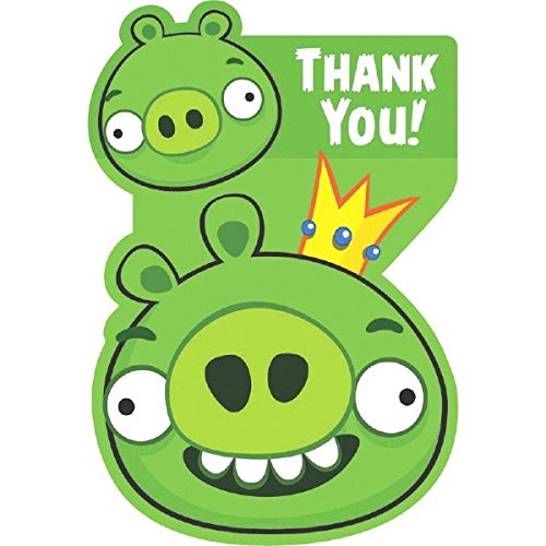 Thank You Card | Angry Birds Collection | Party Accessory (Birds Invitations Angry Party)