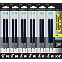 Value Pack of 6 - Pilot G2 Gel Ink Refills for Rolling Ball Pen, Fine Point, Turquoise (77254)