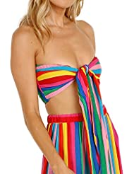Show Me Your Mumu Kenny Scarf Top Tulum Stripe Cruise