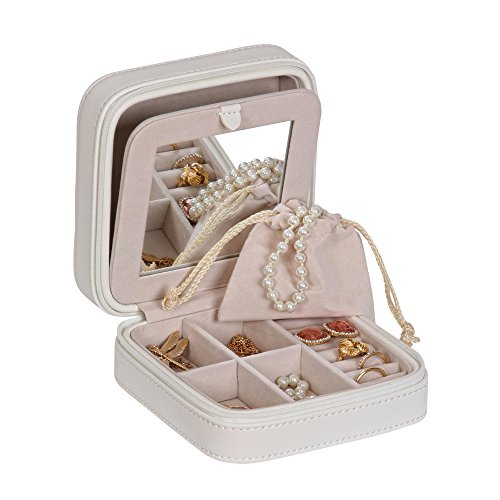 Mele & Co. Dana Travel Jewelry Case in Faux Leather (Ivory) by Mele & Co. (Image #1)