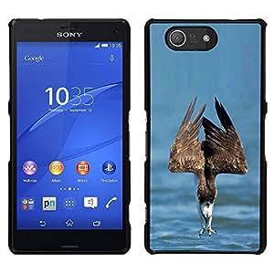 Águila de mar Verano de Libertad de aves rapaces- Metal de aluminio y de plástico duro Caja del teléfono - Negro - Sony Xperia Z4v / Sony Xperia Z4 / E6508