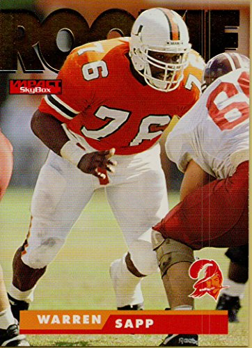 - WARREN SAPP ROOKIE NFL COLLECTIBLE TRADING CARD - 1998 SKYBOX PREMIUM FOOTBALL CARD #179 (MIAMI DOLPHINS) FREE SHIPPING