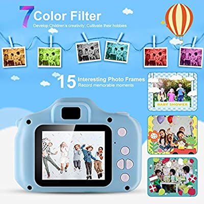 Moclever Kids Camera, Digital Video Recorder Camera for Boys & Girls Age 3-8, Mini Rechargeable Children Camera Shockproof 12MP HD Toddler Cameras Child Camcorder (16GB Memory Card Included) (Blue): Toys & Games