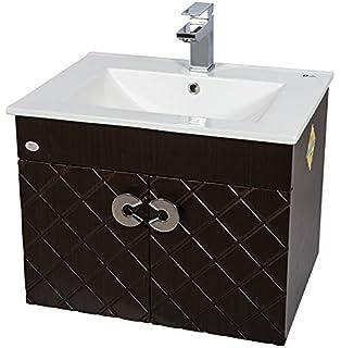 Dazzle Kitchen Bwr Plywood Vanity Washbasin Cabinet, 60X46X45 Cm, Wallnut  Wenge