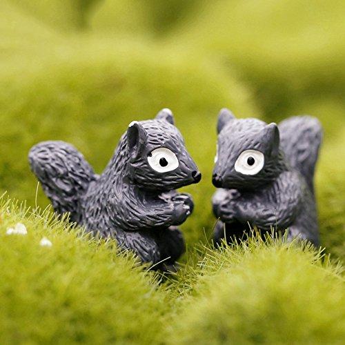 BESTIM INCUK Miniature Fairy Garden Squirrel Home Decoration Outdoor Decor